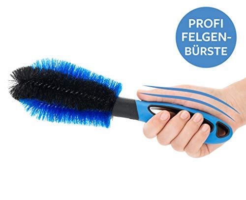 Carbigo® Profi Felgenbürste 29 cm - kratzfreie & effektive Reinigung von Alufelgen, Stahlfelgen - Felgenreinigungsbürste mit ummanteltem Draht - Bürste für Reinigung Auto Felge (1)