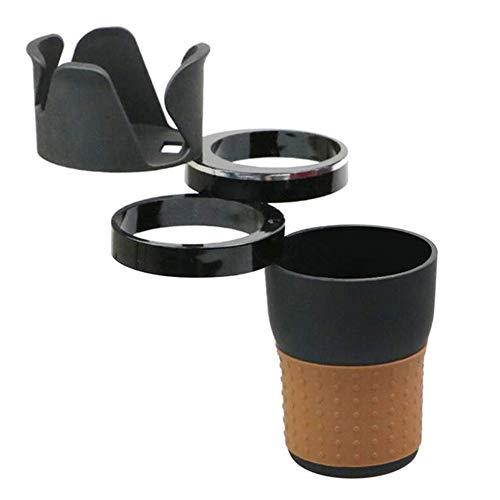Soporte para Bebidas del Coche,3 en 1 Multifuncional Coche Taza Soporte de Gafas Teléfono Móvil Cosas Pequeñas, Portavasos plegable gira 360 Grados