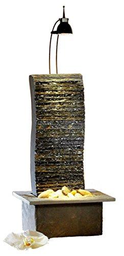 Seliger Schieferbrunnen Suna, Mehrfarbig, 47 x 25 x 21 cm