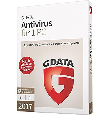 G DATA Antivirus 2017 für 1