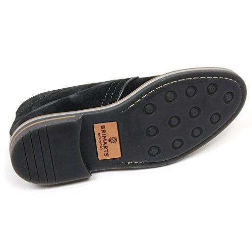 C2358 polacchino uomo BRIMARTS scarpa grigio scuro fondo gomma shoe boot man Grigio scuro