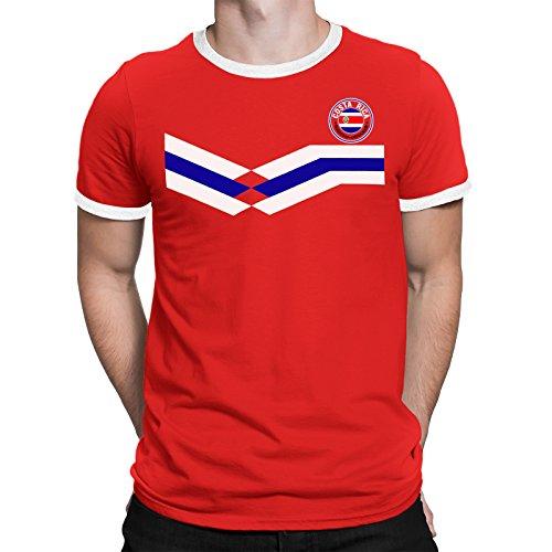 Tee Spirit Costa Rica Camiseta Para Hombre World Cup 2018 Fútbol New Style Retro