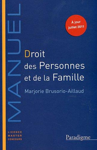 Droit des personnes et de la famille par Marjorie Brusorio-Aillaud