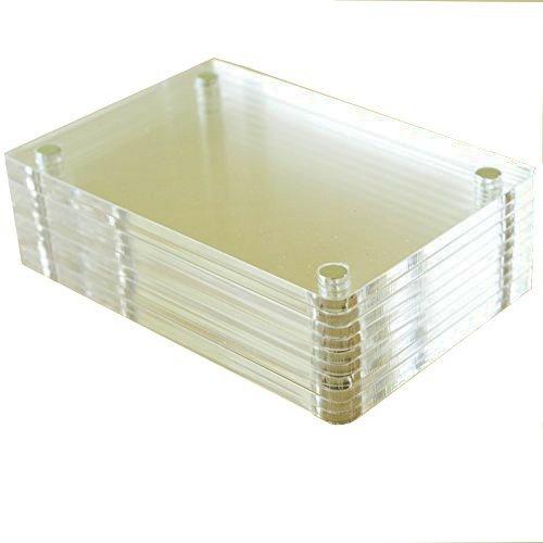 SAIKA Klarer Acryl Kühlschrankmagnet Foto Rahmen für Fujifilm Instax Mini 8 8+ 9 70 7s 90 25 26 50s Film, 5 Pack