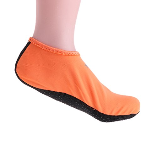 Haorw Damen Herren Beachsocken Beach Wattwandersocken Krabben (S, Orange)