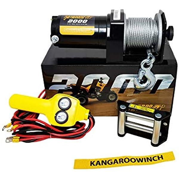 Powerwinch Elektrische Seilwinde 2000lbs 12v 906 Kg Utv Quad Offroad Auto