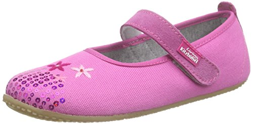 Living Kitzbühel Ballerina Blumen, Chaussons courts, non doublées fille Rose - Pink (pink 340)