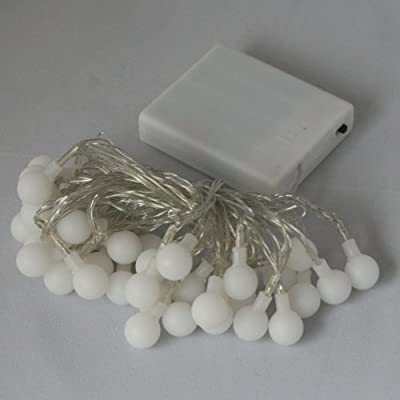 Qbis Warm White (soft white) 40 LED Battery Powered Fairy Lights - indoor Christmas lights / lighting and perfect for Valentine's Day. - low-cost UK light store.