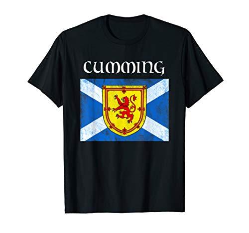 Cumming Scottish Clan Name Scotland Flag T-Shirt