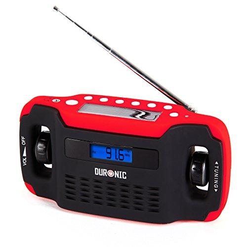 DURONIC APEX - RADIO PORTATIL AM/ FM CON ALARMA RELOJ  RECARGA SOLAR  DINAMO  USB  LINTERNA - 2 AñOS DE GARANTIA