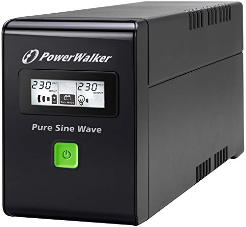 POWERWALKER VI 800 SW Schuko 800VA / 480W Line-Interactive USV Tower AVR Reine Sinuswelle LCD -