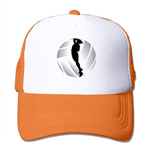 deyhfef Volleyball Print Adjustable Trucker Sun Hats Mesh Sports Baseball Caps ()