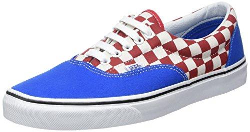 Vans U ERA Sneaker, Unisex adulto Blu (2-tone Check Imperial Blue/true White)