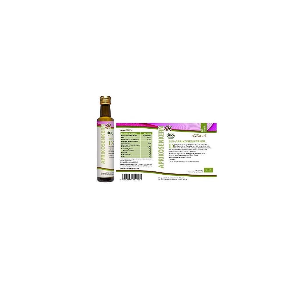 Mynatura Bio Aprikosenkernl Kaltgepresst Vitamin E Omega 3 Fettsuren 250ml