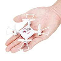 Syma X20 Mini Pocket Drone RC Drones without Camera Micro Quads Altitude Hold Headless RC Quad Copter,White