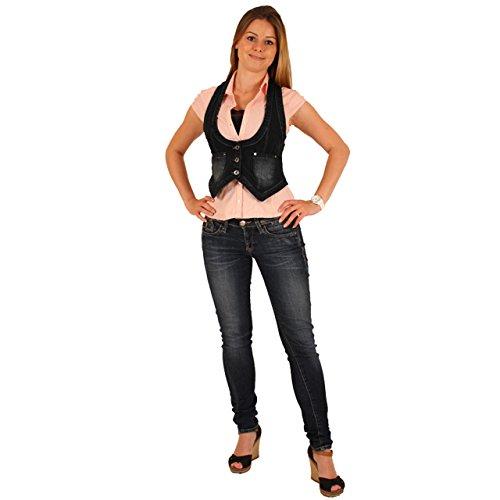 Salesempire24 Damen Weste Jeansweste Jeans Jacke Bolero S/36