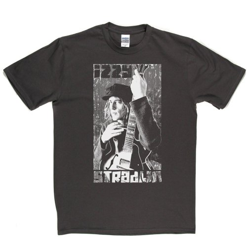 Izzy Stradlin American Guitarist 1990's Music T-shirt Grau