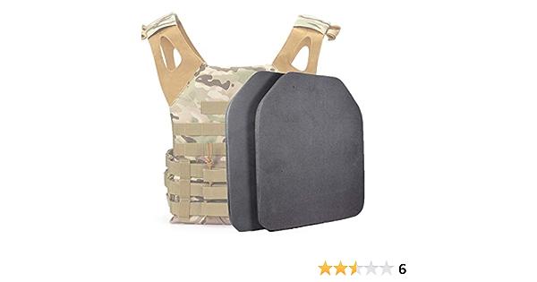Gexgune 2pcs Gilet tattico Militare Fodera Interna in Schiuma Shock Board Pad Protettivo Gilet da Caccia Pad Eva Piatto balistico fittizio Resistente