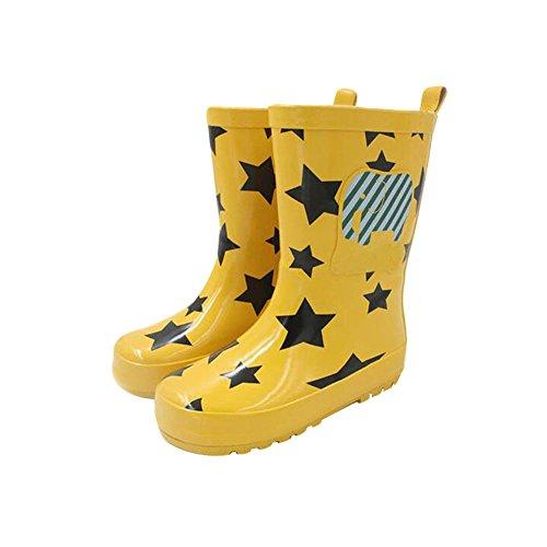 Zhuhaixmy Funny Kinder Infants Rutschfest Wasserdicht Candy Colors Regen Stiefel Rainboots Gummi Rain Shoes Regen Schuhe Yellow