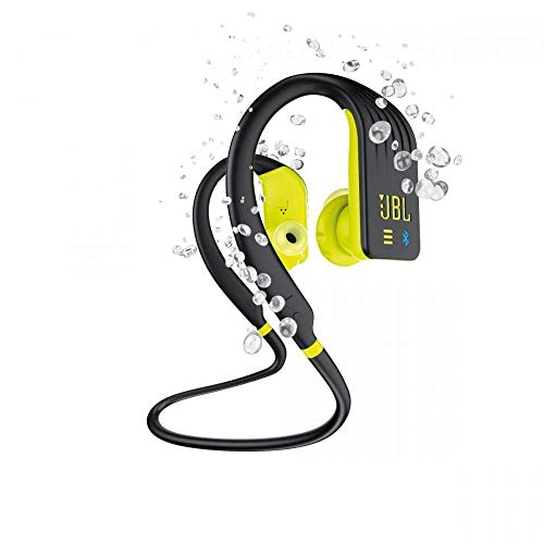 JBL Endurance DIVE Cuffie In Ear Wireless, Auricolari Bluetooth senza Fili Waterproof IPX7 per Sport, Controlli Touch, 1 GB di Memoria, Lettore MP3 integrato, 8h di Autonomia, Nero / Giallo