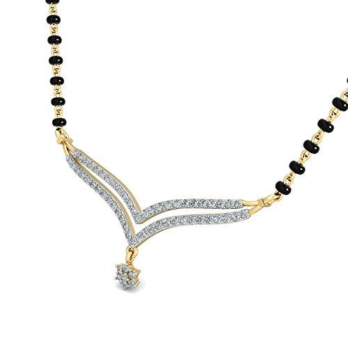 PC Jeweller The Esin 18KT Yellow Gold   Diamond Pendant