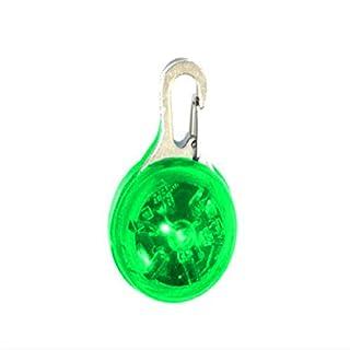 LAAT Safe Leuchtanhänger LED Hunde Leuchtanhänger Sicherheits Clip-On LED Licht Anhänger Halskette für Läufer Jogger Fahrradfahrer Tiere wie Hunde Hund Katze Haustier Zubehör (Grün)