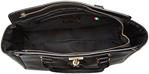 Borsa A Spalla Chicca Borse Donna 80048, 40x18x27 Cm Nero (nero)