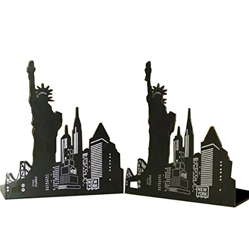 ernen europäischen American Architektur Landmark Thema Stil Haarverdichtung Eisen Bibliothek Schule Metall Buchstütze Book End Perfekte Geschenk für Kinder ()