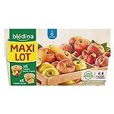 Blédina 12 Coupelles Fruits - 6 Pommes Biscuits/6 Pommes Pêches Fraises dès 6 mois