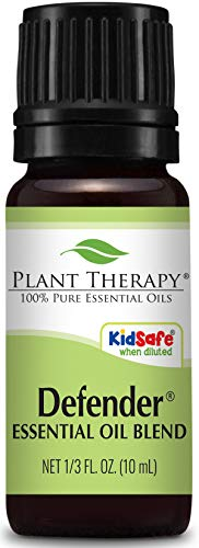 Plant Therapy Defender Blend 10 mL (1/3 oz) 100% Pure Undiluted Blend of Uplifting and Immune Supporting Essential Oils -