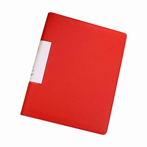 Leder Ringbuch A4Notebook 4Loch loseblattwerken Punch Ordner rot
