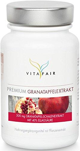 Premium Granatapfel-Extrakt 500mg | Hochdosiert mit 40% Ellagsäure | 120 Kapseln | Vegan | Ohne...