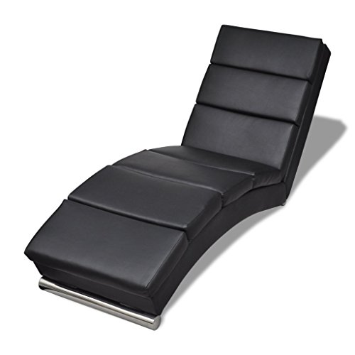 Anself Relaxliege Liegesessel Chaiselongue mit Verzinkten Stahlfußleisten 2 Farbe Optional