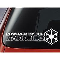 """Level 33 Ltd Adesivo STAR WARS ispirato a """"Powered by the Darkside"""", con Logo dei Sith, per auto, finestra, parete o"""