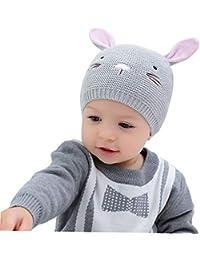 ACMEDE Cappello Bambino Invernale Orecchie Cappello da Neonato Unisex  Berretto a Cuffia Invernale Berretto Bimbo Autunno 4487f25771ab