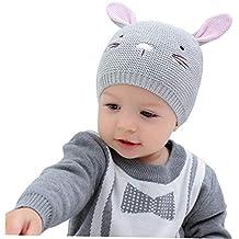 ACMEDE Cappello Bambino Invernale Orecchie Cappello da Neonato Unisex  Berretto a Cuffia Invernale Berretto Bimbo Autunno 34eaeab72c32