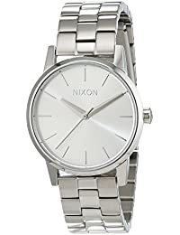 Nixon Damen-Armbanduhr Small Kensington All Silver Analog Quarz Edelstahl A3611920-00