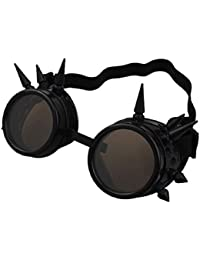 tfxwerws Retro Steampunk gótico estilo Unisex gafas con soldadura Cyber gafas (negro)