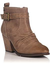 82f1a6c18 Amazon.es  botines mujer mustang - Piel   Zapatos  Zapatos y ...