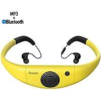 Tayogo Reproductor MP3 Impermeable IPX8 FM Bluetooth 4.2 HI-FI App U Disco para Nadar