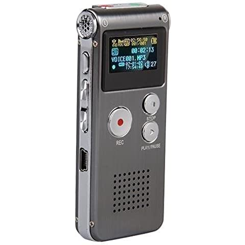 Miroad A23 Multifunctional 8GB Digital Audio Voice Recorder Rechargeable Dictaphone Flash Drive LCD Voice Recorder with Stereo Mic MP3 Player for Lectures Meetings Interviews - Professionista Player