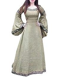 22fe11c75ce2 Honestyi Abiti Donna Invernali Taglie Forti Eleganti Vestiti da Sera Abito  Vestito Invernale Cerimonia Medievale da