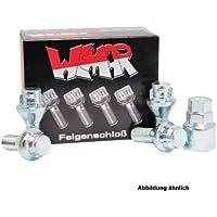 Felgenschloss Fiat Schraube M12x1.25x25 Kegelbund 60° SW17 Diebstahlsicherung