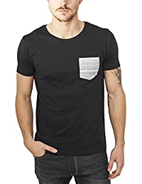 Urban Classics Herren T-Shirt Contrast Pocket Tee