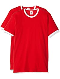 Fruit of the Loom Valueweight Ringer T, Camiseta para Hombre
