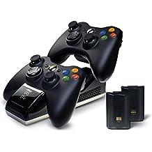 Xbox360 Charge Base S + 2 Akku-Packs + Netzteil, Deutscher Stecker