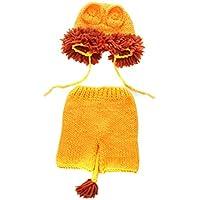 FENICAL bebé recién Nacido Crochet león de Punto Disfraz de Halloween Trajes de fotografía para bebé niña niño