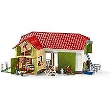 Schleich 42333 Großer Bauernhof Mit Tieren und Zubehör, mehrfarbig