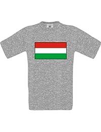 Uni T-Shirt Ungarn Hungary Ländershirt mit Wunschnamen und Nummer