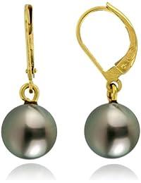 Tous mes bijoux - CDNCPOR220 - Boucles d'Oreilles Femme - Or jaune 750/1000 0.8 gr - Perle de Tahiti